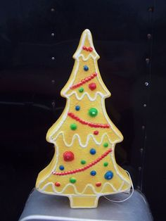 GINGERBREAD TREE UNION PRODUCTS PLASTIC BLOWMOLD CHRISTMAS DECORATION YARD DECOR #unionproducts Decorating With Christmas Lights, Xmas Decorations, Blow Molding, Gingerbread, Yard, Plastic, Dreams, Christmas Ornaments, Holiday Decor