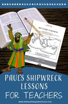 Paul's Shipwreck Activity Book: Kids Ages Youth Bible Lessons, Bible Object Lessons, School Lessons, Lessons For Kids, Sabbath School Lesson, Bible Activities, Activity Books, Paul The Apostle, Bible Mapping