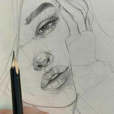 My Pins Kunst Skizzen Pencil Art Drawings, Cool Art Drawings, Realistic Drawings, Art Drawings Sketches, Easy Drawings, Drawing Ideas, Horse Drawings, Sketch Art, Anime Sketch