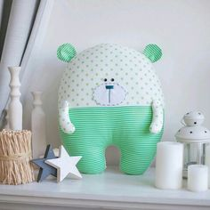 Pillow Pals, Pillow Room, Baby Girl Quilts, Girls Quilts, Stuffed Animal Patterns, Diy Stuffed Animals, Handmade Baby, Handmade Toys, New Baby Crafts