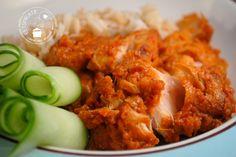 Sambal kip (ajam rica rica) Via eetspiratie. Homemade Chicken Pot Pie, Chicken Recipes, Asian Recipes, Healthy Recipes, Ethnic Recipes, Sambal Chicken, Good Food, Yummy Food, Indonesian Food