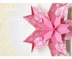 종이접기 소품~벚꽃을 닮은..꽃모양 접시(입체꽃접기) : 네이버 블로그