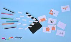 En el kit Luces, cámara, acción! materiales y actividades muy divertidas para hacer los más pequeños/as de casa al mundo del cine. Con la colaboración de www.misterbu.com/