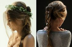 Beautiful Loose Braids coupled with Tiny Flowers is a soft look.  I would do this for my wedding!