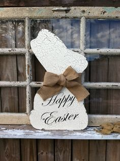 Shabby Chic Easter Bunny  / Easter Door Decor / by VintageShore, $42.00