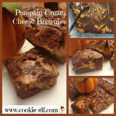 Pumpkin Cream Cheese Brownies: ingredients, directions, and baking tips from The Elf to make this super easy brownie recipe. Cake Mix Cookie Recipes, Cake Mix Cookies, Best Brownie Recipe, Brownie Recipes, Brownie Cake, Cake Brownies, Cream Cheese Brownies, Pumpkin Cream Cheeses, Best Brownies