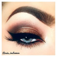 gorgeous neutral eye makeup for blue eyes ❤ liked on Polyvore featuring beauty products, makeup and eye makeup