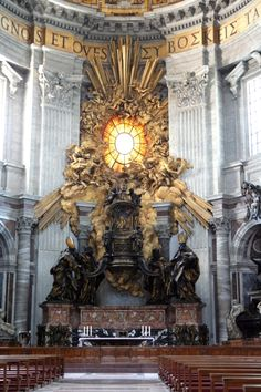 Photo: Throne of St. Peter, St. Peter's Basilica, Rome, Italy
