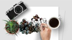 Black Grapes : Photo, Vector, Black and White Outline