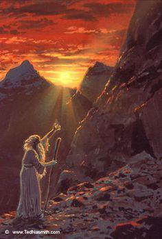 Húrin Reaches the Echoriath ~ Ted Nasmith.