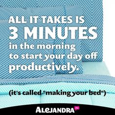 Start your day off with a productive flair that can carry you through the rest of your busy day! #MondayMotivation #AlejandraTV