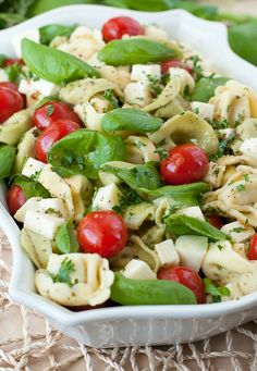 Caprese Tortellini Salad :: Say hello to the best pasta salad recipe of my life!