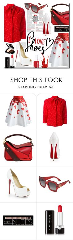 """""""I love shoes!"""" by ela79 ❤ liked on Polyvore featuring Chicwish, Ermanno Scervino, Loewe, Christian Louboutin, Gucci, Charlotte Russe, Marc Jacobs and Chanel"""