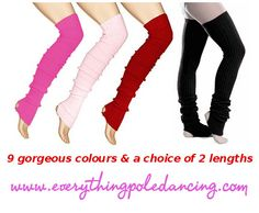 Warm your muscles up faster and avoid injuries with these snuggly legwarmers in 9 fabulous colours and 2 lengths!