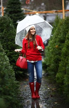 Cute And Preppy Winter Outfit To Wear Everyday 06 Red Sweater Outfit, Geek Outfit, Red Jumper, Dress Outfits, Casual Winter Outfits, Outfit Winter, Holiday Outfits Christmas Casual, Casual Clothes, Christmas Clothes