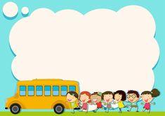 Artes: Molde de Jesus Farm Cartoon, Teacher Cartoon, Powerpoint Background Design, Poster Background Design, Kids Background, Cartoon Background, School Bus Drawing, School Binder Covers, Graduation Shirts For Family
