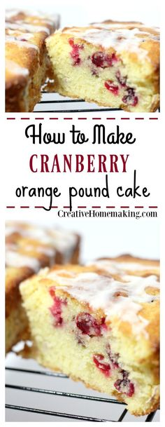 This cranberry orange pound cake is easy to make and fancy enough to give away as gifts during the holidays. It's one of my favorite holiday baking recipes for Christmas. Holiday Desserts, Holiday Baking, Christmas Baking, Just Desserts, Delicious Desserts, Dessert Recipes, Christmas Holidays, Homemade Desserts, Homemade Breads