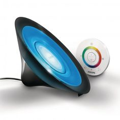 Philips LivingColors Aura Colour Changing LED Table Lamp - Black from Litecraft