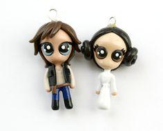 Han and leia....i love chibis...so cute ^_^ #star wars