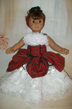 OOAK American Girl Doll Gown  Quinceanera Dress  by MyKaraBella, $125.00