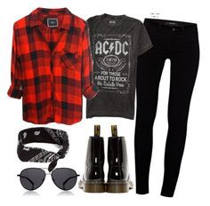 """80s rock"" by crazygirlandproud ❤ liked on Polyvore featuring Dr. Martens, J Brand, claire's, The Row, rock and 80s"