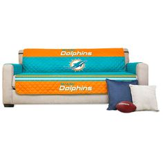 """Miami Dolphins 75"""" x 110"""" Sofa Water Absorbent Furniture Protector - $27.99"""