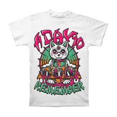 A Day To Remember Men's  Sushi Cat T-shirt White