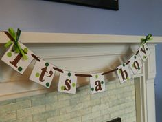 Its a Boy Banner Boy Baby Shower Decorations New Baby Banner The Giving Tree Inspired Baby Shower Decor Photo Prop Birth Announcement on Etsy, $17.00