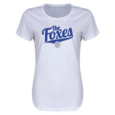Leicester City Foxes Women's T-Shirt (White)   $29.99   Holiday Gift & Stocking Stuffer ideas for the Leicester City FC fan at WorldSoccerShop.com