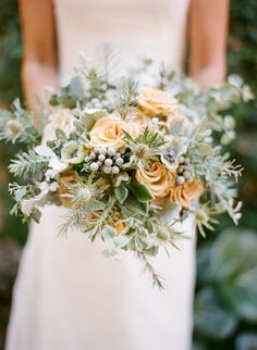 winter wedding bouquet // flowers by Art With Nature Floral Design // photo by Esther Sun // http://ruffledblog.com/winter-wonderland-inspired-bouquet