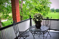Whippoorwill Room porch, at the Texas Forest Country Retreat Bed & Breakfast