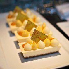 Creme Fraiche cheesecake for banquet dessert buffet @stregisbalharbour #bachour #bachoursimplybeautiful   by Pastry Chef Antonio Bachour