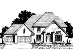 Four Bedroom New American (HWBDO62147) | New American House Plan from BuilderHousePlans.com