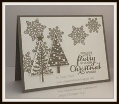 Stampin up flurry of wishes stamp set. festival of trees stamp set. 2015 stampin up holiday catalog