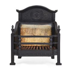 THOMAS JECKYLL (1827-1881)  AESTHETIC MOVEMENT CAST IRON FIRE GRATE, CIRCA 1880  with Japanese cast details  48cm wide, 54cm high, 24cm deep  Estimate £ 300-400 + fees  Sold for £400 (buyer's premium included)