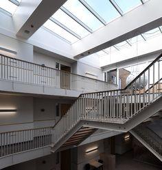 VELUX atrium longlight Skylights, Atrium, Stairs, Home Decor, Stairway, Decoration Home, Staircases, Room Decor, Side Return