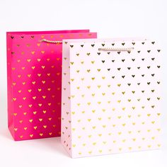 Gold Hearts Large Gift Bags (Set of 2) Price $8.95