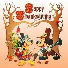 Happy Thanksgiving from Mickey and Minnie