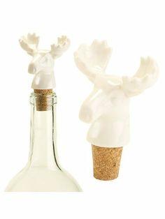 "Set Of 2 Pieces 3"" Porcelain Ivory Moose Cork Wine Bottle Stopper by American Chateau. $9.99. Size: 3.1"" H x 2.3"" L x 1.9"" W. Color: IVORY. Material: PORCELAIN. You get 2 Pieces. Color: IVORY; Material: PORCELAIN; Size: 3 1/10"" H x 2 1/3"" L x 1 9/10"" W; You get 2 Pieces"