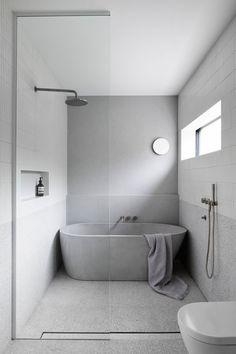 Minimalist Bathroom Design, Bathroom Layout, Minimalist Interior, Modern Bathroom Design, Bathroom Interior Design, Minimalist Small Bathrooms, Contemporary Bathrooms, Minimalist Bathroom Inspiration, Bathroom Feature Wall Tile