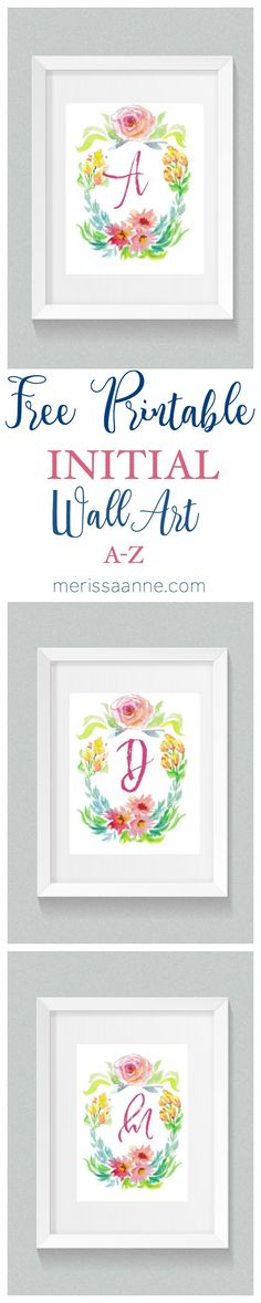 GOTTA LOVE FLORALS! Look at this beautiful initial wall art! Instantly available for download in every letter (scroll down for links.) This print will add the perfect little pop of color to your home. A gold, pink, or even turquoise frame would accent this piece beautifully! I really love how soft and feminine this design is. PleaseContinue reading