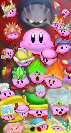 Kirby Ability Collage by EmilyKiwi.deviantart.com on @deviantART