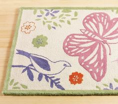 Organic Butterfly Rug Swatch