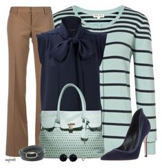 Navy Bow Top/Stripe Cardigan Contests
