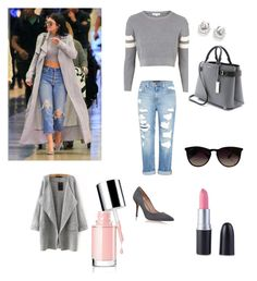 """""""get the kelly jenner look"""" by nadinebouimout on Polyvore featuring Topshop, Genetic Denim, Kurt Geiger, Ray-Ban and Michael Kors"""