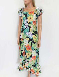 b2356568319 Black Tropical Forest Mirage Hawaiian Long Muumuus - Designed with you in  mind.  98.95 Hawaii