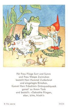 Vintage 1943 Children s Book The Pet s Doctor Ars Sacra Ida Bohatta Morpurg Vintage Children's Books, Vintage Cards, Vintage Postcards, Funny Frogs, Illustration Story, Postcard Art, Fairytale Art, Fairy Art, Stories For Kids