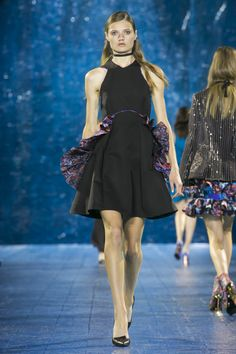Look Berdella Dress Black/Blue Future Trends, Mary Katrantzou, Spring Summer 2016, Ny Times, Ready To Wear, Runway, Ballet Skirt, Dress Black, Skirts