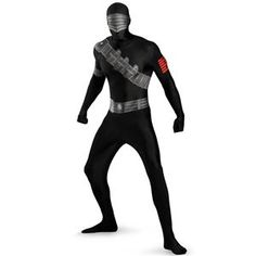 G.I. Joe Snake Eyes Bodysuit Adult Costume - $69.74