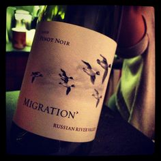 Loved this Migration Pinot Noir! Nice cherry fruit and great earthiness.